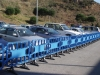 blue plastic fences of 1 meter