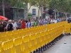 yellow plastic fences of 1 meter